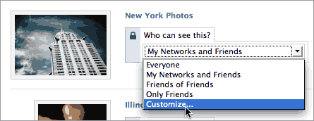 Facebook - Who can see this photo customization