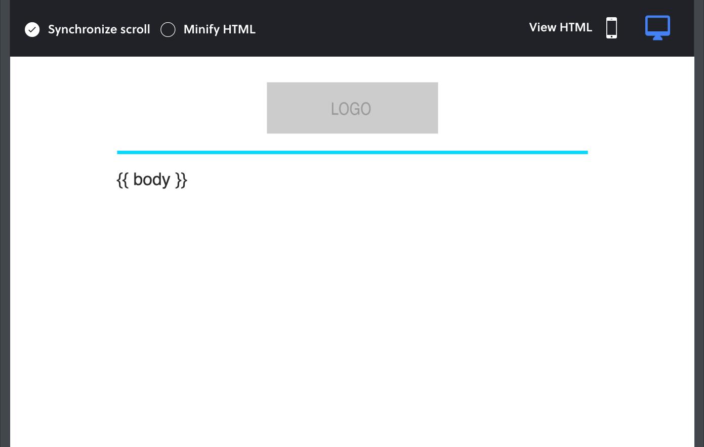 MJML render example