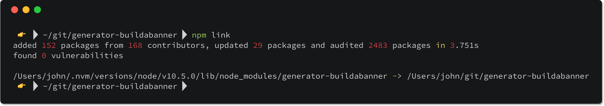 Npm Link Example